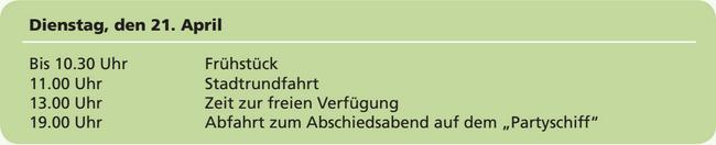 Wesser University Norderney   Wesser Erfahrungen   Programm für Dienstag 21. April 2015